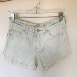 Free People High-rise Jean Shorts.